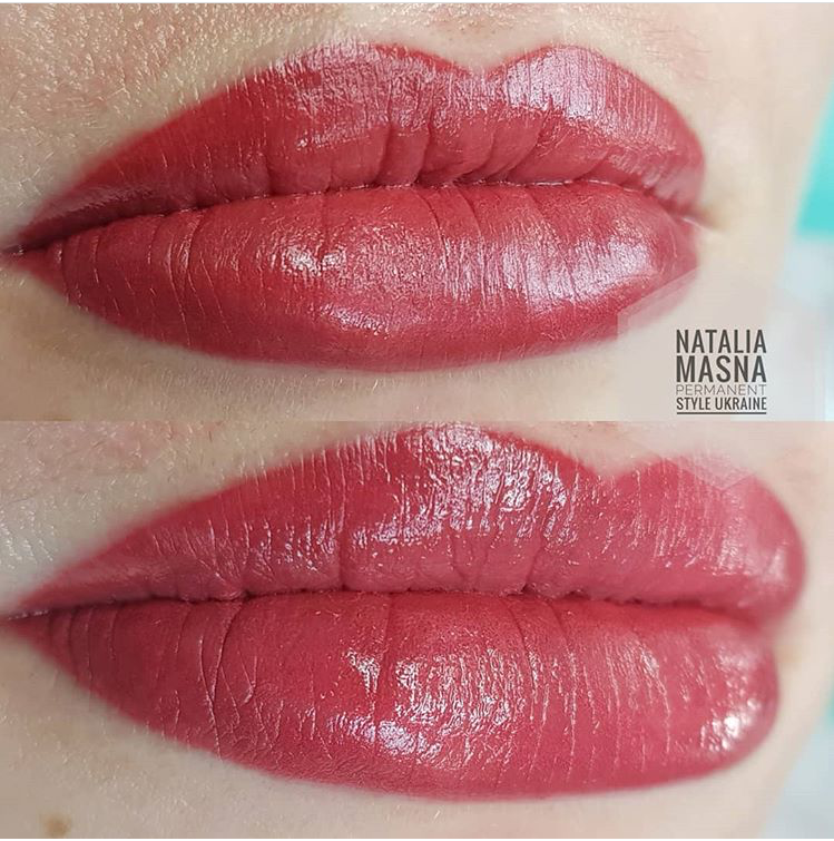 איפור קבוע בשפתיים שיטת אקוורל _בוצע על ידי נטלי מסניה -magic cosmetic