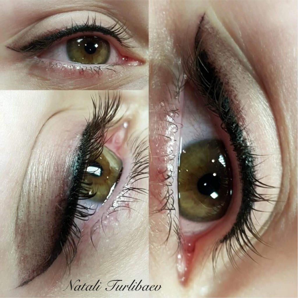 איפור קבוע בעיניים -איליינר מעושן -בוצע על ידי נטלי טורליבייב -magic cosmetic