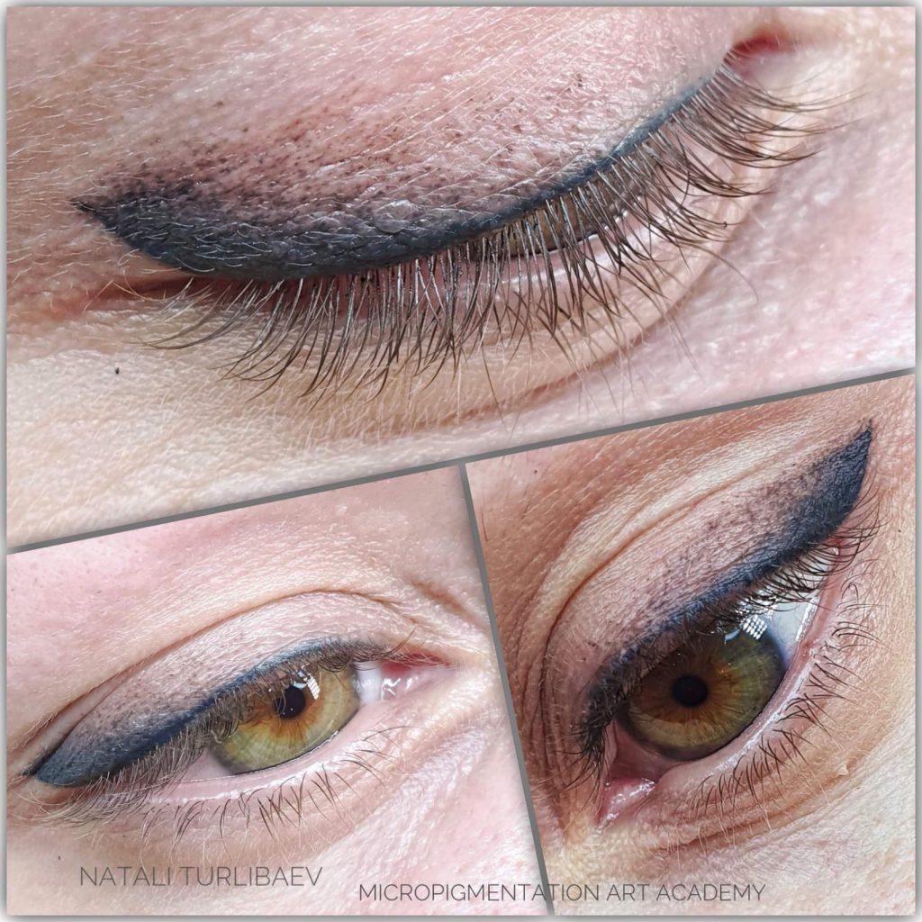 איפור קבוע בעיניים -איליינר מעושן -בוצע על ידי נטלי טורליבייב Magic cosmetic