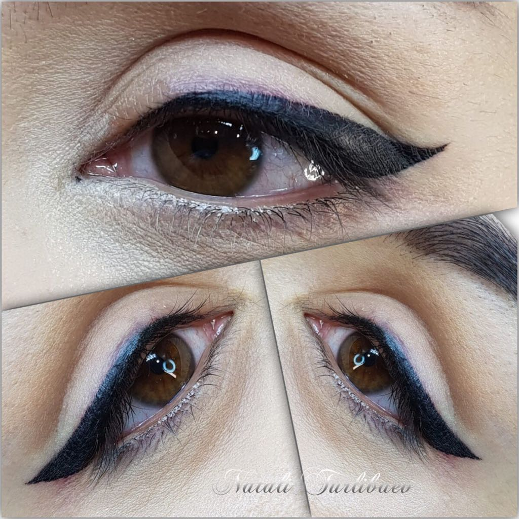 איפור קבוע בעיניים -איליינר קלאסי -בוצע על ידי נטלי טורליבייב -magic cosmetic