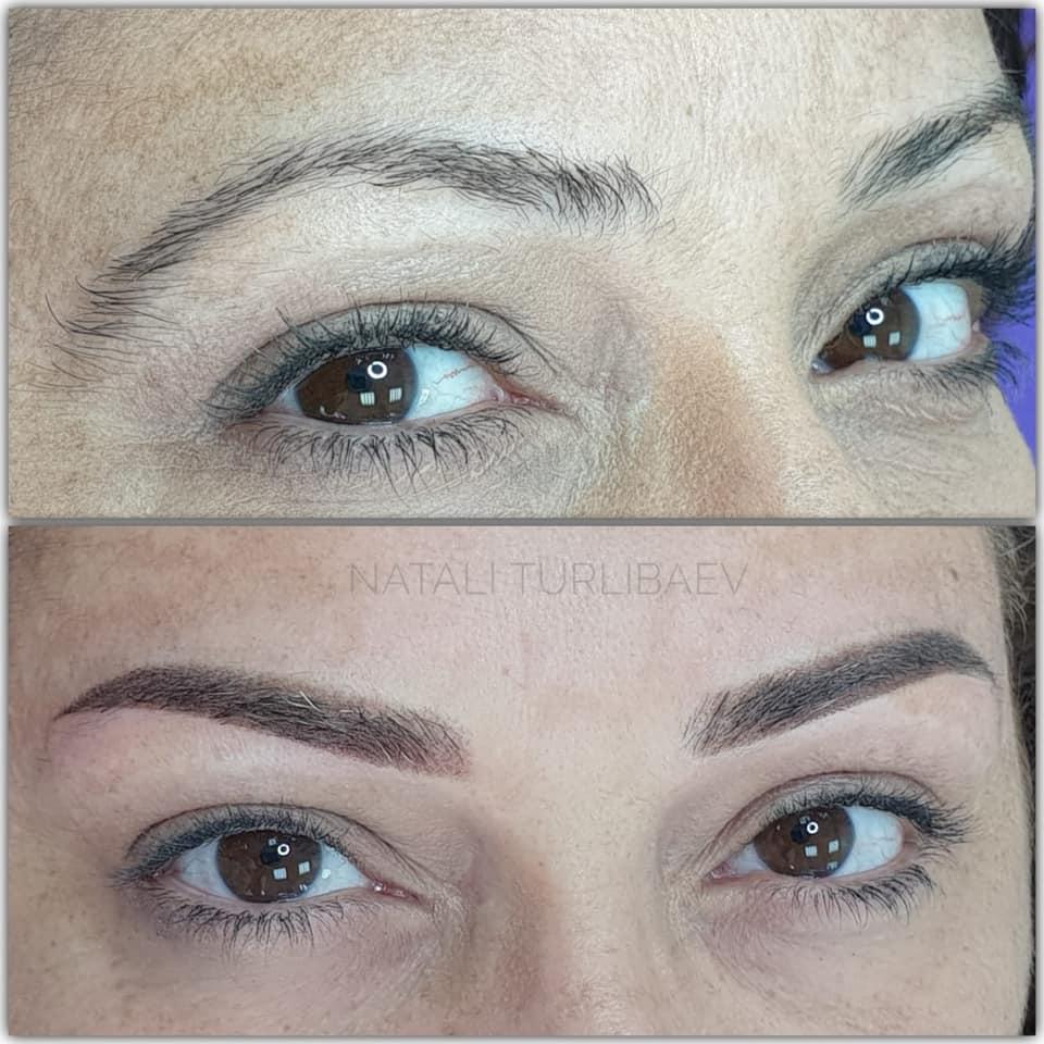 איפור קבוע גבות -פודרה- נטלי טורליבייב- Magic cosmetic